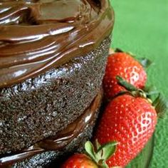 "One Bowl Chocolate Cake   ""This is a rich and moist chocolate cake. It only takes a few minutes to prepare the batter. Frost with your  favorite chocolate frosting."""