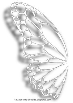 White ink butterfly wing tattoo concept. So getting this with the other wing!