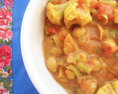 Curried Chick Pea and Cauliflower stew