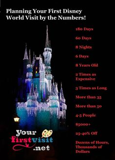 Planning Your First Walt Disney World Visit By the Numbers from yourfirstvisit.net