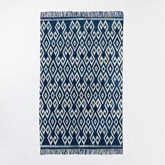 Indigo Geo Cotton Dhurrie | west elm