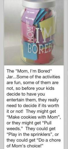 "For those... ""I'm bored days""."
