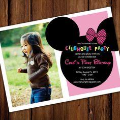 cute minnie mouse invite