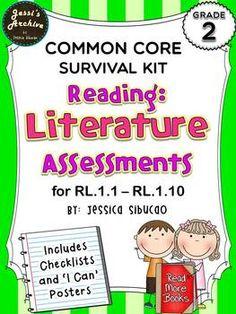 2nd Grade Common Core Reading: Literature Assessment