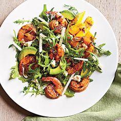 Lemony Grilled Shrimp Salad | MyRecipes.com #myplate #protein #vegetable