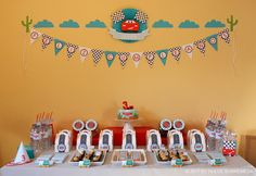 cars party plus this site has TONS of party ideas