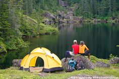 #camping #outdoors #lake #tent