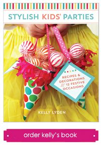 Stylish Kids Parties by Kelly Lyden 12 chapters of preppy, darling party ideas with DIY projects, recipes and pages of templates to use at your next party! #whhostess #stylishkidsparties