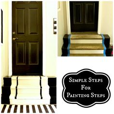 Simple steps for painting steps and creating a snazy entry from Top This Top That garage doors