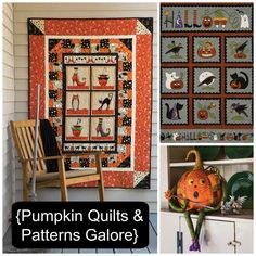 Pumpkins in quilts,