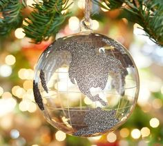 Glass Glitter Globe Ornament | Pottery Barn
