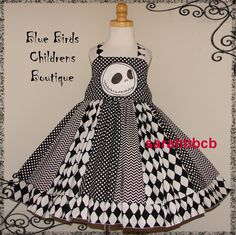 Disney Jack Skellington Nightmare Before Christmas Dress - BBCB Boutique - not custom fits approx 3T 4T - Birthday Party Epcot