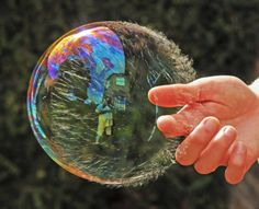 The Moments Of A Soap Bubble Bursting - Artistic Photography -