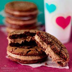 Nutella cream cookies