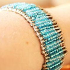 Beaded Safety Pin Bracelet