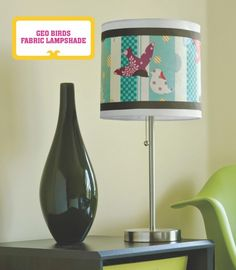 "Birds Fabric Lampshade from the book ""Mod Podge Rocks"""
