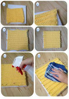 Tutorial: Blocking Acrylic Yarn