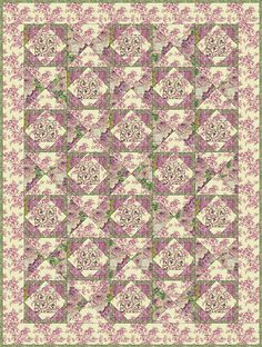 Free Quilt Patterns - Lilacs and Roses Free Quilt Pattern