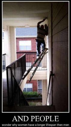 A balancing act, indeed:   stupidity vs. insanity.