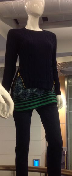 Great sporty look! Oh...what a great idea - 2 of my favorite pieces!