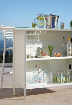 Modern Outdoor Bar from Frontgate.