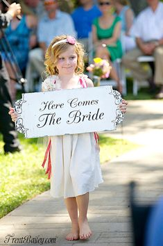 Here Comes The BRIDE signs Wedding signs by familyattic on Etsy, $49.95