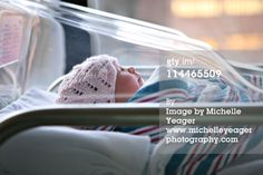 Royalty-free Image: Newborn baby in hospital bassinet