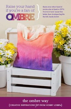 If the ombre trend makes you happy, then this DIY bag will have you on cloud 9!