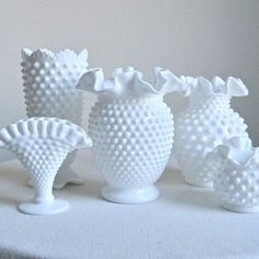 more hobnail. vintage weddings, glasses, milk glass, milkglass collect, new kitchens, flowers, blog, antiqu, wedding gifts