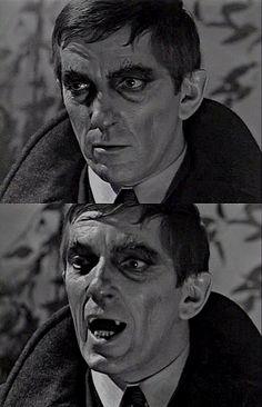 Barnabas Collins' crazy vampire makeup. It happens sometimes...