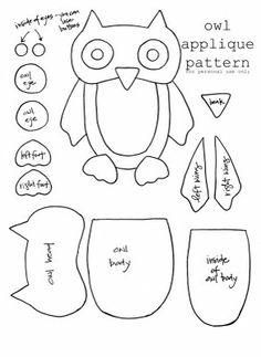 sew, craft, templat, owl appliqu, applique patterns, appliques, appliqu pattern, owls, owl patterns