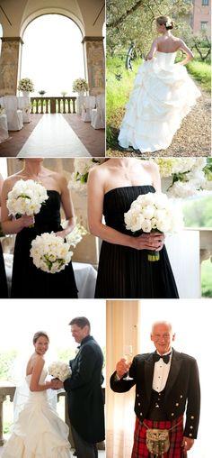 Love the black and white! #black #white #wedding