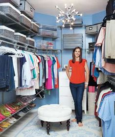 A Bedroom Closet Makeover|Armed with some practical organizing tools and a bit of ingenuity, Real Simple saves this closet from chaos.