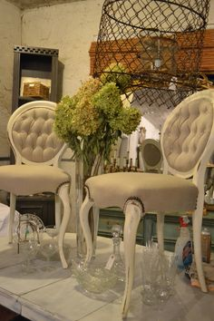 Pretty french chairs at www.chartreuseandco.com/tagsale