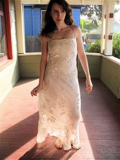 Simple floral beaded wedding gown $59.95