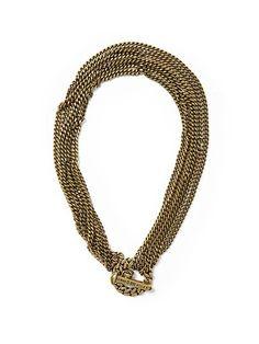 Chain and Spike Toggle   www.lipstickandcake.com   #jewellery #jewels #chains #gold #style #fashion
