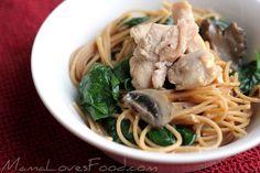 Chicken Alfredo Spaghetti for the Slow Cooker