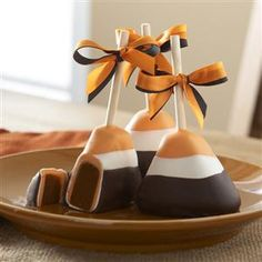 candy corn brownie pop @Cathy Curtis