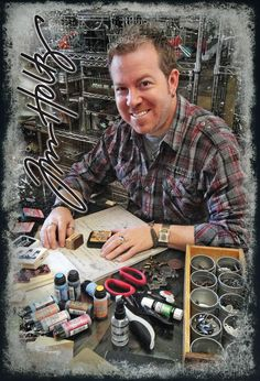 @Tim Harbour Holtz  on creativity & his love of ink :) #cre8simple #creativitymadesimple