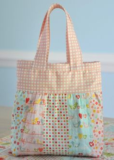Patchwork Baby Doll Quilt and {Mini} Diaper Bag