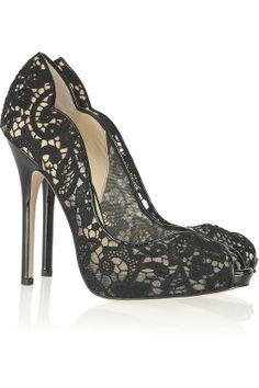 Black lacy shoes