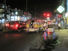 Fields Ave Angeles City Philippines at night #angelescity #fieldsave #travel #asia