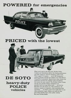 1957 DeSoto Police Vehicles Brochure