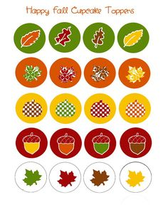 Cupcake Toppers for Fall!  Coordinates with the free fall toppers on my blog!  Enjoy!