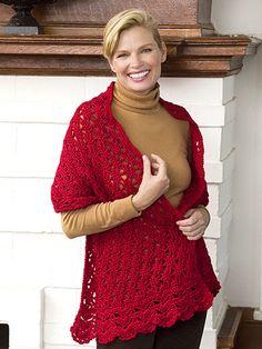 Beautiful Crocheted Prayer Shawl.....free pattern