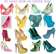 """So many shoes so little time"" by leotajane on Polyvore"