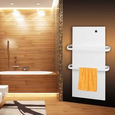 Salle de bain on pinterest - Seche serviette miroir ...