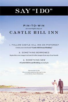 Only a few days left to enter!! #CastleHillDreamWedding