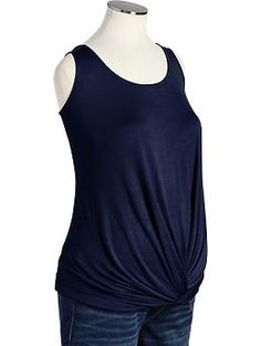 Maternity Twist-Front Jersey Tanks   Old Navy