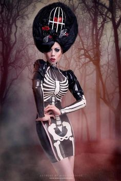 models, costum, halloween parties, fashion, dresses, skeletons, the dress, latex, ophelia overdos